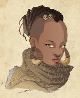 badass black girl by NOOR-SALEH