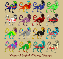 Vhyx's Adopt-A-Thingy Shoppe by Dongiovar