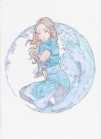 Katara lineart Colored by lancehunter17