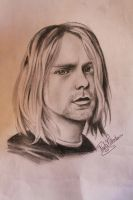 Kurt Cobain face by Nasuki100