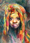 African woman by kalinatoneva
