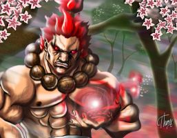 Akuma detail by Theresiel