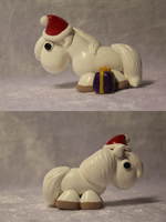 Christmas Pony (White ) for SALE by AnimalisCreations