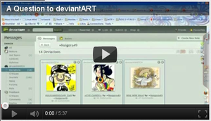 a VIDEO Question to deviantART by paradigm-shifting