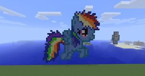Filly rainbow dash in minecraft by Dutchcrafter