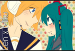 Len x Miku by IllusiaInk