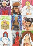 X Men Archives Sketch Cards by wheels9696