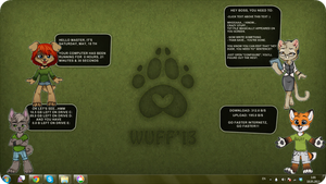 WUFF Desktop for Rainmeter by nightgrowler