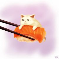 Sushi Cat by Khalitzburg