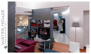 Water House - L. and Kitchen 3 by Semsa