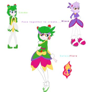 Cosmo and Blaze Fusion by DoraemonFan4Life