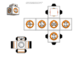BB-8 cubeecraft by JagaMen