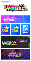 [Logo] CosplayWorld - Logo and Variations by cArxangel