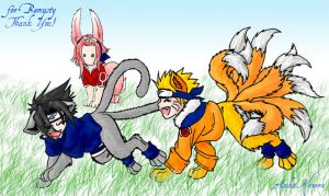 naruto - chibi furries 2 by askerian