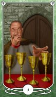 Four of Cups by Shegon