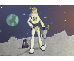 The Space Miner by Calick