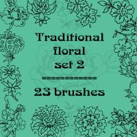 Traditional floral 2 by rL-Brushes