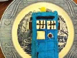 Tardis - Time and Relative Dimensions in Cake by DaleksinWonderland
