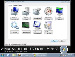 Windows Utilities Launcher by ShraOne