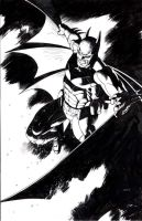 Batman In Black by thepunisherone