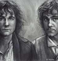 Pippin and Merry by iamjoanna