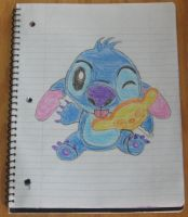 Stitch eating a lollipop by Barricade9-1-1