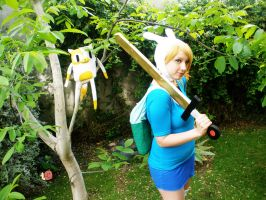 Adventure Time Fiona And Cake Cosplay by MelodyxNya