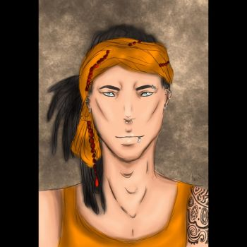 Guy with dreads by CherryArts01