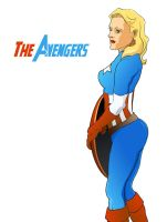 Captain America lady version by Norloth