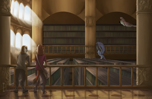 Grand Library by Exilender