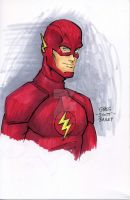6x9 Copic Practice - The Flash - new TV version by gregscottbailey
