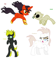 Themed adoptables 53-56 (CLOSED) by BronyBase