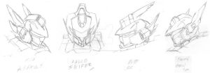 VF Arwing Heads by MasterChiefFox