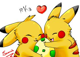 Pika Love love by Scorched-FoxFire