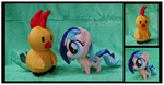 Sapphire Breeze and Chirpy Chi Custom Plushes by Nazegoreng
