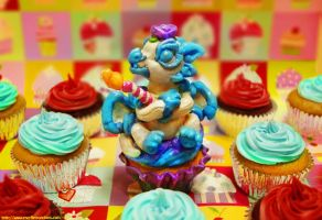 Fondants cupcake party by The-SixthLeafClover