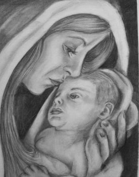 Mary and Baby Jesus by sweetpie2