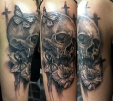 Skull Tattoo by Disse86