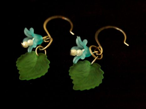 Bluebell Blossom Earrings by TheJugulateJeweler