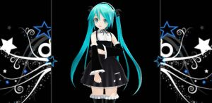 Appearance Gothic Miku by bertalh