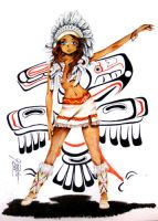 American Indian Girl by GisaPizzatto