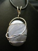 free form blue lace agate in silver by BacktoEarthCreations