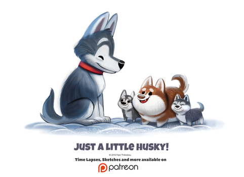 Daily 1357. Just a little husky! by Cryptid-Creations