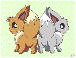 Eevee Couple by pichu90