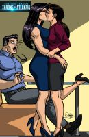 Diana Prince and Lois Lane Kiss by Kaywest