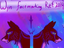 Wyn facemarking ref by Wynter-Heart