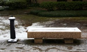 Snow Smoker's Bench by JaredPLNormand
