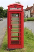 Red Telephone Box by fuguestock