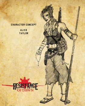 Resistance of Dawn Character Concept Alice by rs2studios