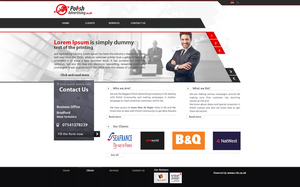 Polish Advertising website by grafmax